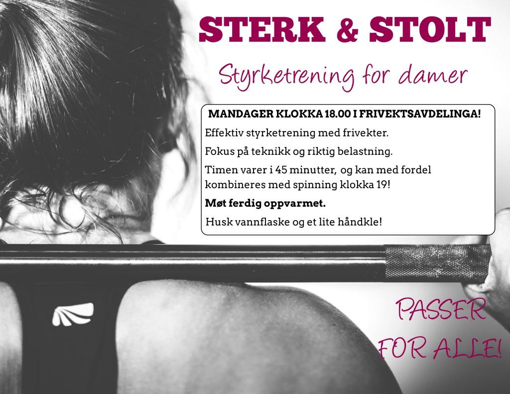 Sterk & Stolt plakat