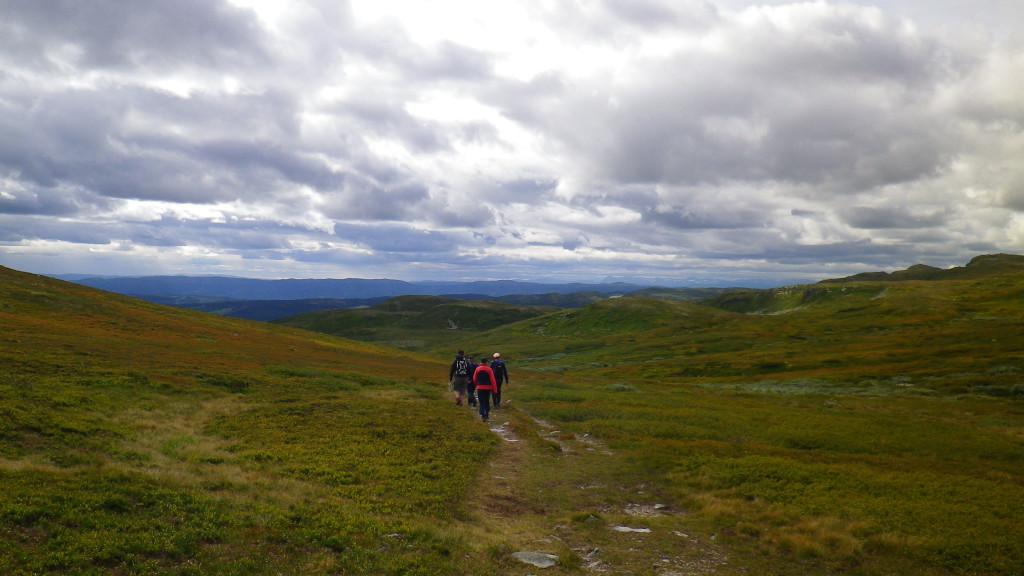 På tur ned fra Spåtind